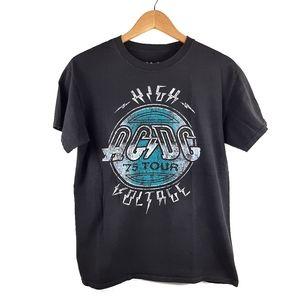 AC/DC High Voltage '75 Tour Tee T-Shirt Medium